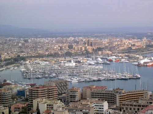 Die Hafenpromenade von Palma