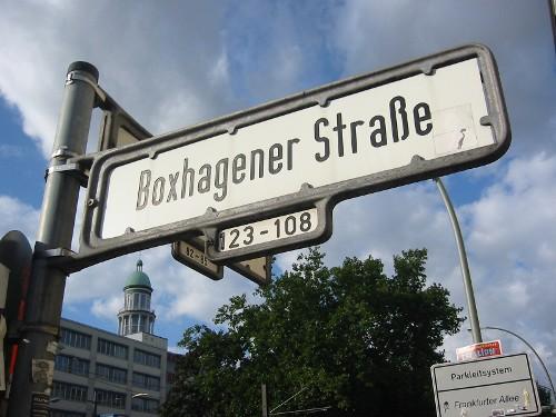 Boxhagener Strasse - barren land