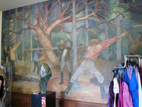'Holzfäller' - Ein west-östliches Gemälde