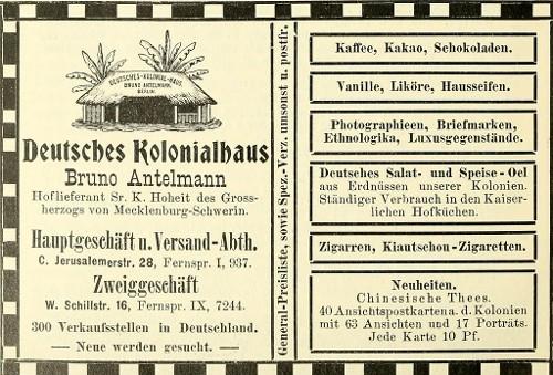 Station 3: Jerusalemer Straße 28: Das Deutsche Kolonialhaus  Kolonialwirtschaft: Ein gewinnbringendes globalisiertes Geschäft