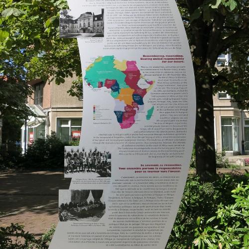 Station 5: Wilhelmstraße 92: Gedenktafel Berliner Afrika-Konferenz  Zeichen setzen: Die Anfechtung herrschender Geschichtsversionen