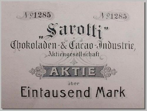 Station 8: M.-Straße 10. Erster Firmensitz der Sarotti-AG.  Der Sarotti-M. Karriere eines umstrittenen Markenzeichens