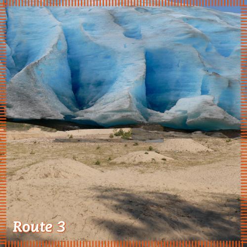 Route 3   Sandige Aussichten