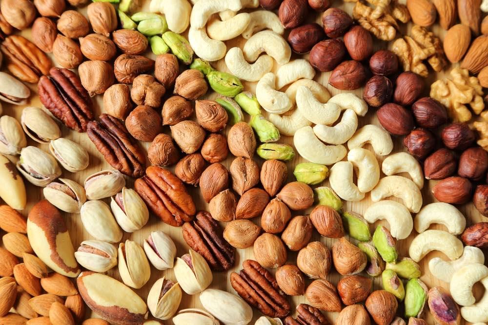 nut butter grinder selection of nuts