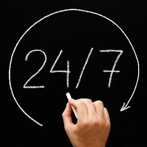 Atención las 24 horas-Clínica Trejo