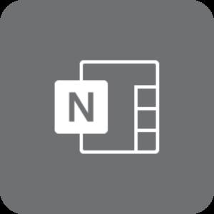OneNote-logo (gråt)