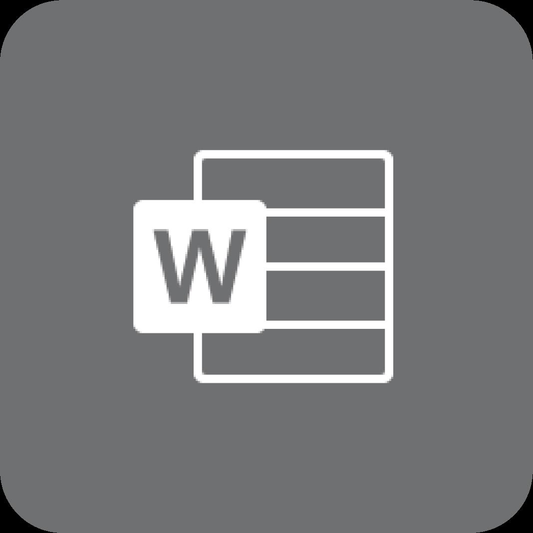 Word-logo (gråt)