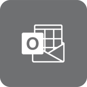 Outlook-logo (gråt)