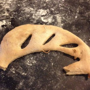 Fougasse to test the oven temp
