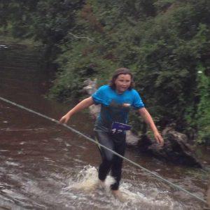 Jordan's Mud run back through the river