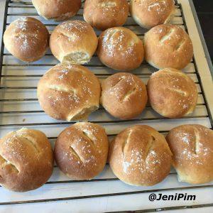 White yeast bread rolls
