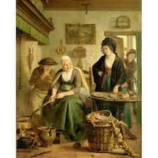 Woman Baking Pancakes Adriaan de Lelie, picture c/o Rijks museum c. 1790 - c. 1810