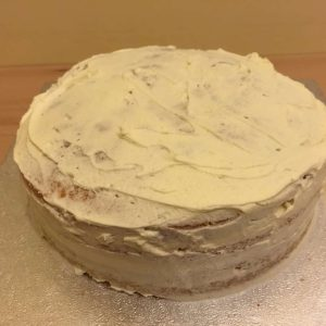 Cake getting it's crumb coat