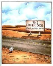 Gary Larson's Chicken Cartoon