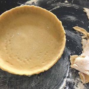 Pastry Shell ready to be baked blind.