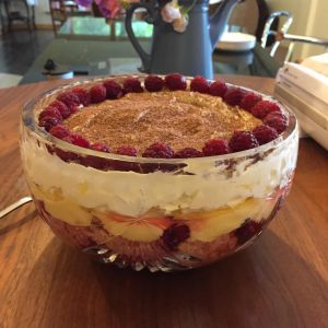 Fresh Raspberry Trifle