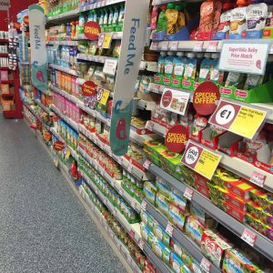 Baby Food aisle in the supermarket