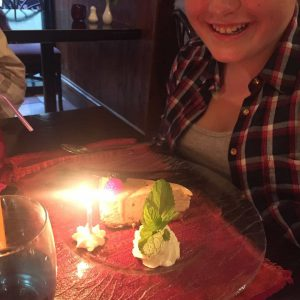 Birthday dessert in Emiliano's, Waterford