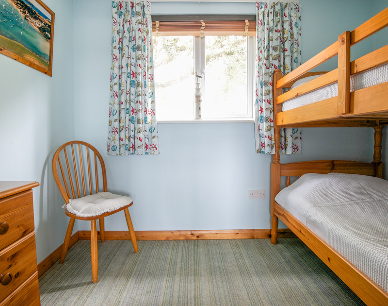 The bunk room, ideal for children, at Slipway 16, a holiday rental in Rock, Cornwall
