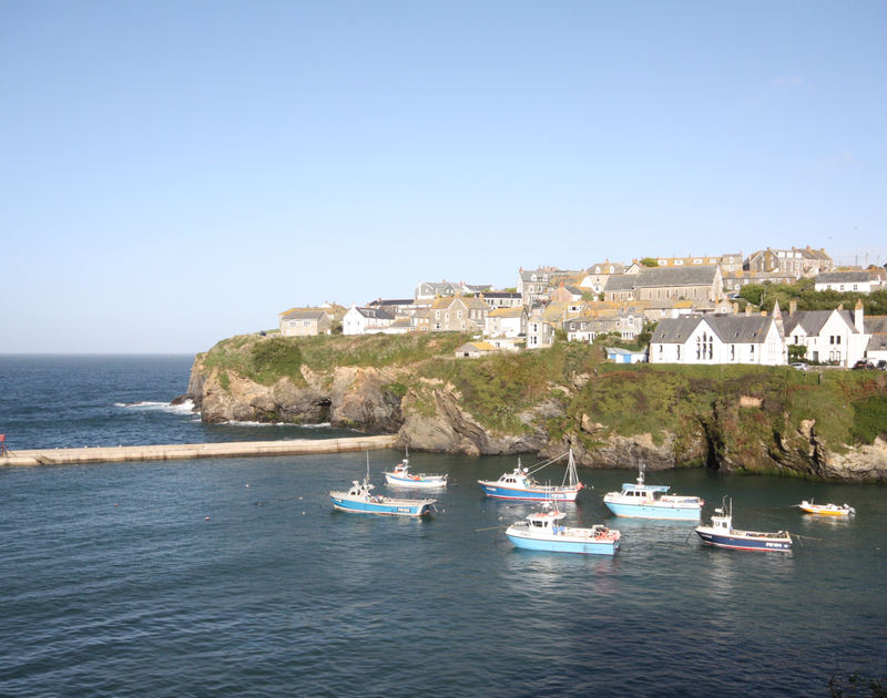 Gorgeous views of the harbour, the breakwater and out to sea from Northcliffe Garden Flat, Port Isaac