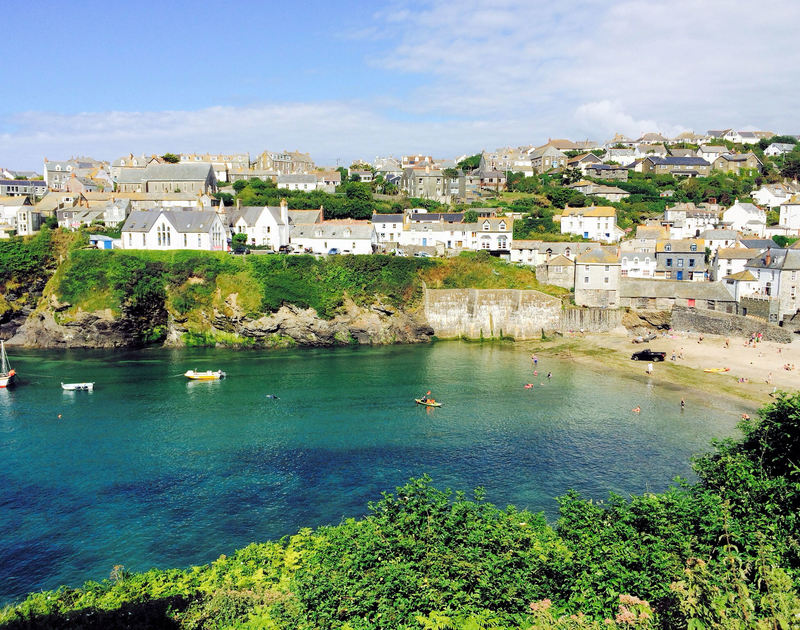 Beautiful views of the harbour and old part of the village from Folly 2, a holiday cottage in Port Isaac, Cornwall