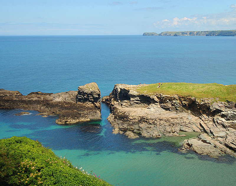Stunning coastal and sea views from Bellevue, an idyllic family self catering holiday house to rent in  Port Isaac, North Cornwall.