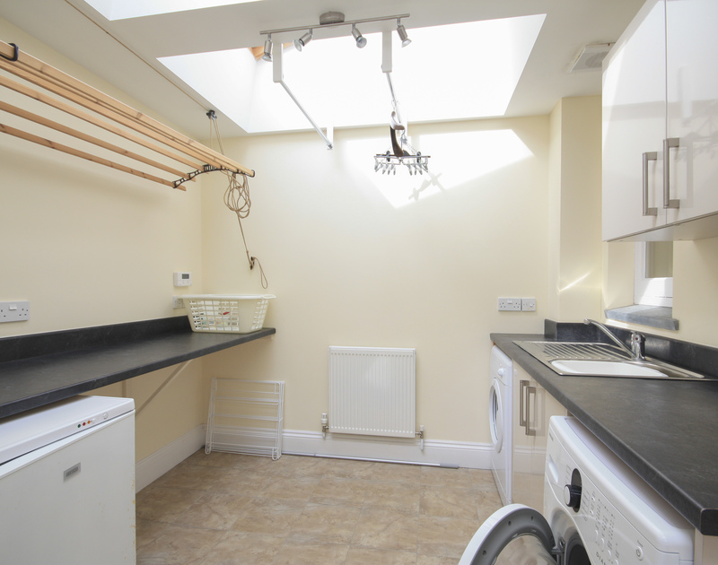 Spacious and useful utility room in Bellevue, a self catering holiday house to rent in Port Isaac, Cornwall.