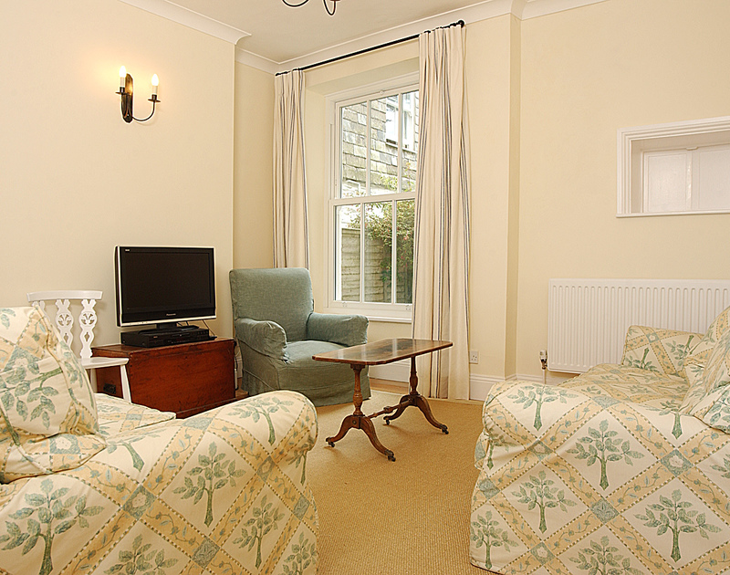 The useful TV room in Bellevue, a self catering holiday house to rent in Port Isaac, Cornwall.