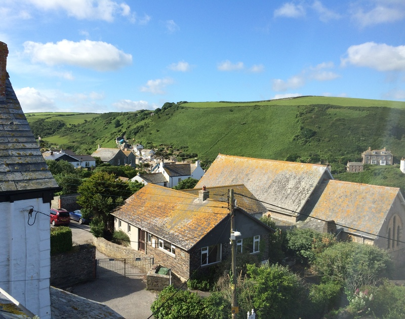 Views across the valley from Fronthill House, a self-catering holiday house in Port Isaac, Cornwall
