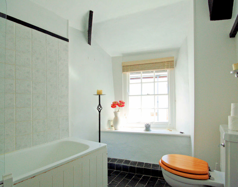 The bathroom in The Cobweb, a self catering holiday cottage in the heart of Port Isaac on the North Coast of Cornwall.