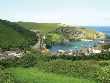 Beautiful sea and harbour views from Pebblestones, a self catering holiday cottage in Port Isaac, Cornwall
