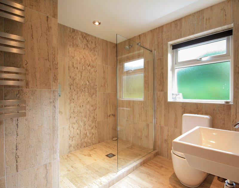 Stylish shower room at The Terrace, a luxury self-catering holiday house in Port Isaac, Cornwall
