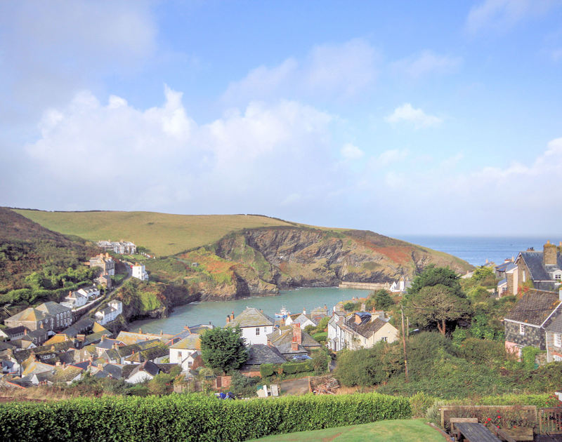 Harbour and sea views from The Terrace, a luxury self-catering holiday house in Port Isaac, Cornwall