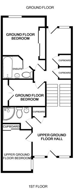Ground floor plan of Slipway 9, holiday cottage in Rock, Cornwall