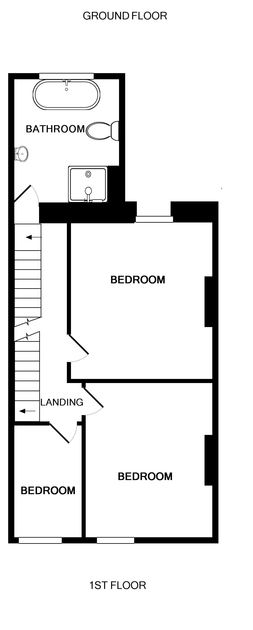 The first floor plan of Crewsnest, holiday house in Rock, Cornwall