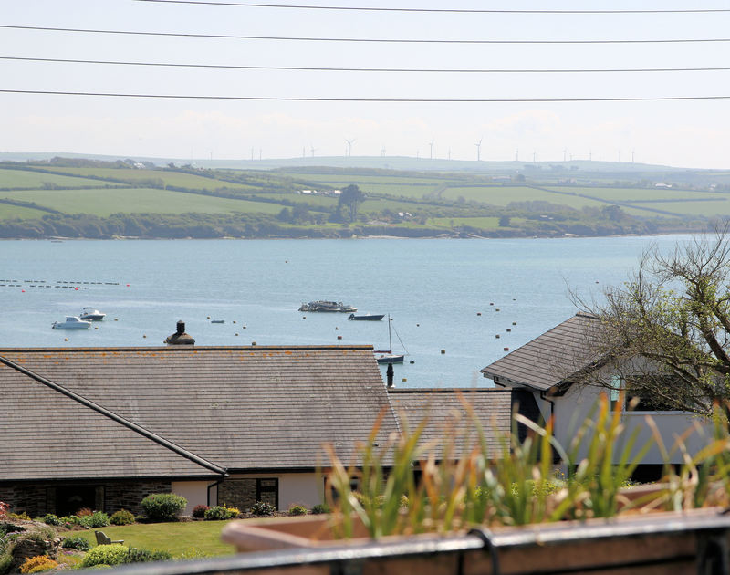 The Camel Estuary view from the balcony at Chy An Fos, a self catering holiday house to rent in Rock, North Cornwall.
