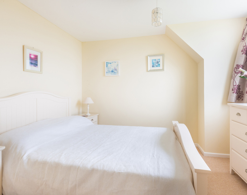 Upstairs double bedroom with stunning sea views
