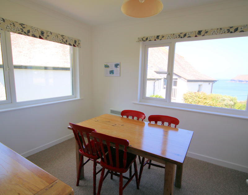 The dining room in Gullsway;September Tide, a self catering holiday rental in Polzeath, Cornwall.