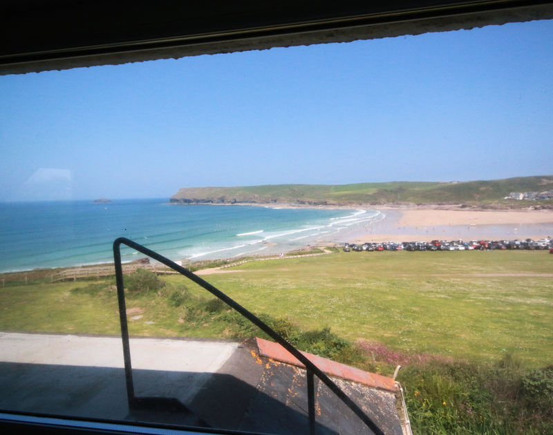 Amazing seaviews from the double bedroom of Gullsway: The Annexe, a holiday rental in Polzeath, Cornwall