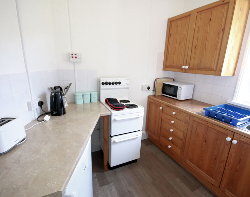 The kitchen in Gullsway;Sandpiper, a self catering clifftop holiday rental in Polzeath on the north coast of Cornwall.