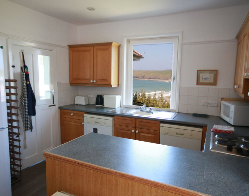 The kitchen of Kittiwake, a holiday cottage in a fantastic coastal location of Polzeath, Cornwall