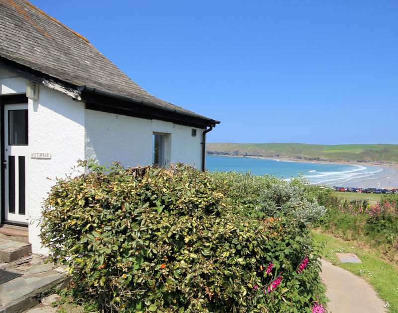 The entrance of Kittiwake, a self-catering coastal holiday rental in Polzeath, Cornwall