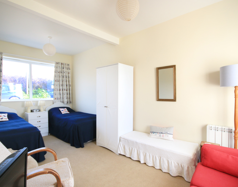 One of two twin bedrooms in The Holiday House, a self catering holiday rental in New Polzeath, North Cornwall.