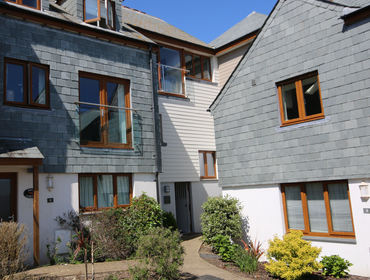 The entrance and front exterior of Number 9, luxury self-catering holiday house in Port Isaac, Cornwall