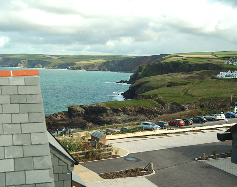 Coastal and sea views towards Tintagel from the top floor of Number 9, self-catering holiday house in Port Isaac, Cornwall