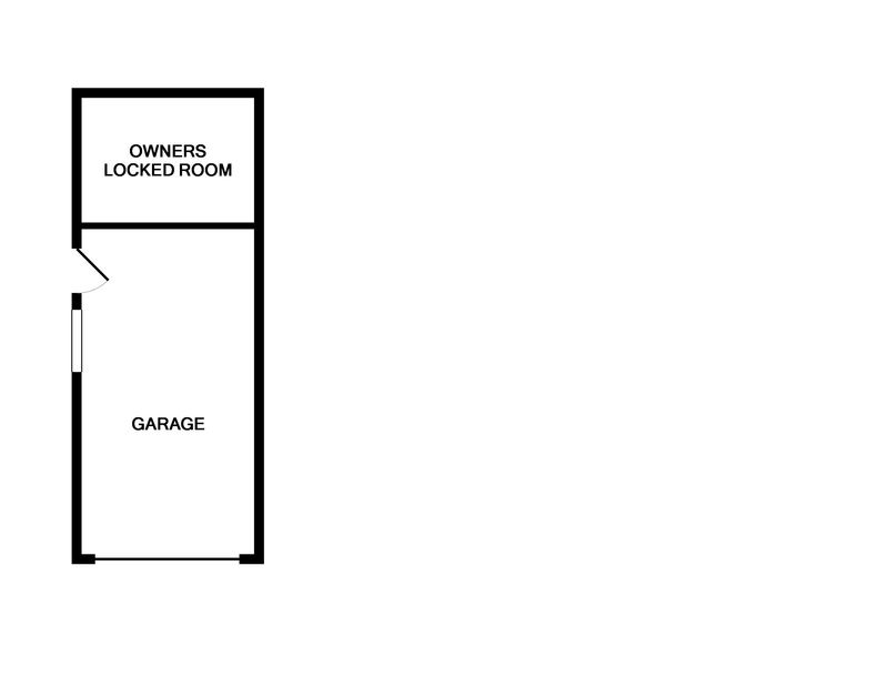 The garage floor plan of Curlew, a self-catering holiday rental in Rock, Cornwall