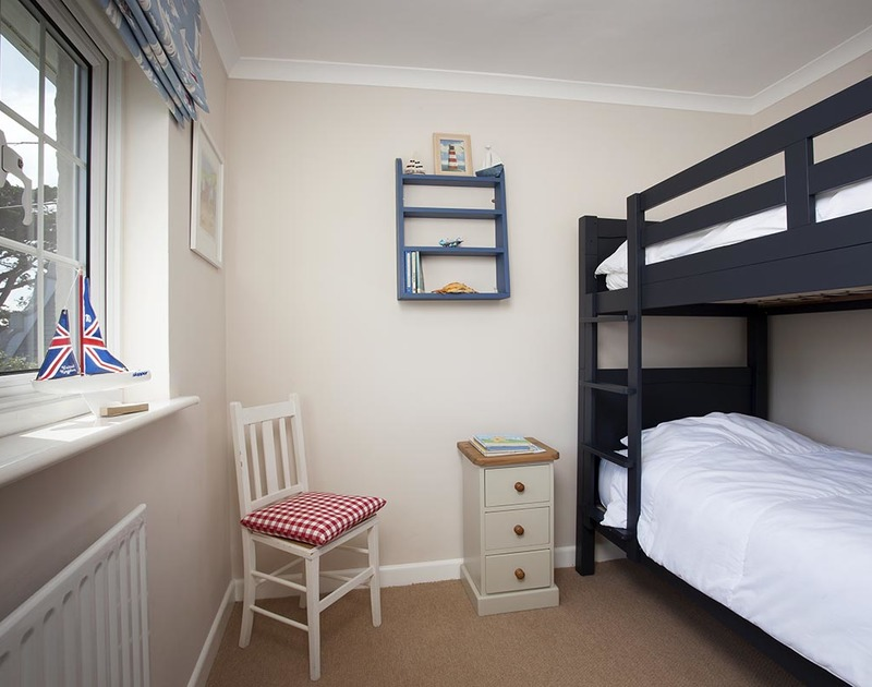 Fun for the children in the smart bunk bedroom at Bay View Cottage in Daymer Bay. Cornwall.