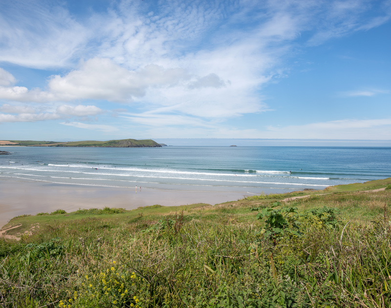 Breathtaking sea views across to Stepper Point from Low Cliff Cottage, a holiday cottage in Polzeath, Cornwall