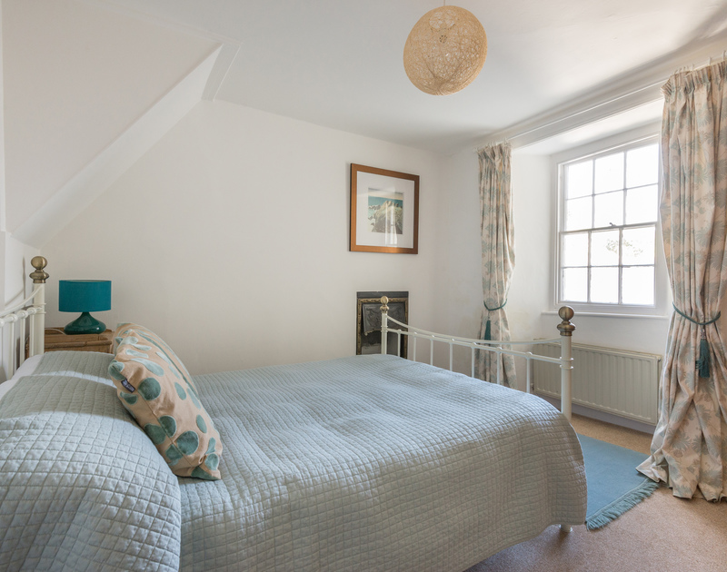 The double bedroom of self catering holiday house 22, Church Hill on the North Coast of Cornwall.