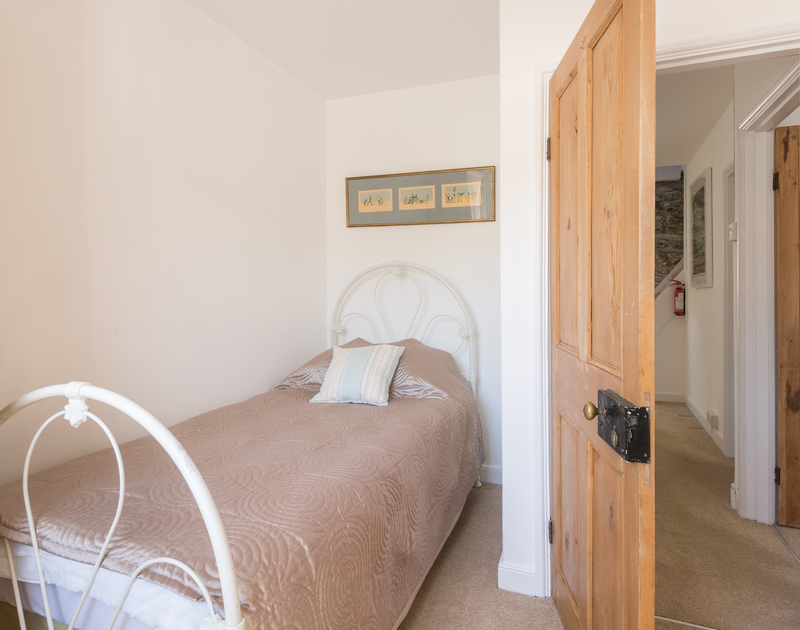 Single bedroom of self catering holiday house 22, Church Hill on the North Coast of Cornwall.